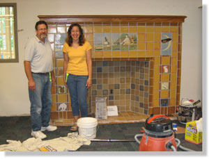 Red Flint Faience Fireplace Mantel At Addams Elementary In Royal Oak Michigan Photo Courtesy Of Diana Barrer
